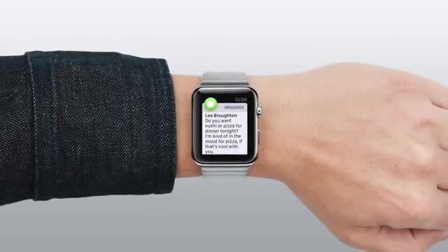 ویدئوی آموزشی کار با ساعت هوشمند اپل - پیام ها