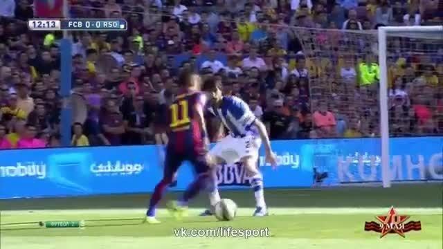 خلاصه بازی : بارسلونا 2 - 0 رئال سوسیداد