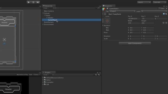 آموزش UI Tool در یونیتی 4 و 5-بخش 9-UI Scroll Rect