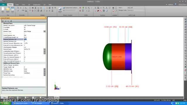 ویدئوی آموزشی مثال طراحی مبدل حرارتی با PV Elite