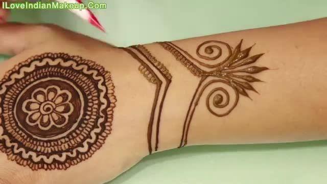 آموزش نقاشی با حنا روی دست