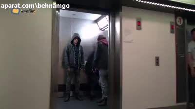 دوربین مخفی عجیب در آسانسور :))