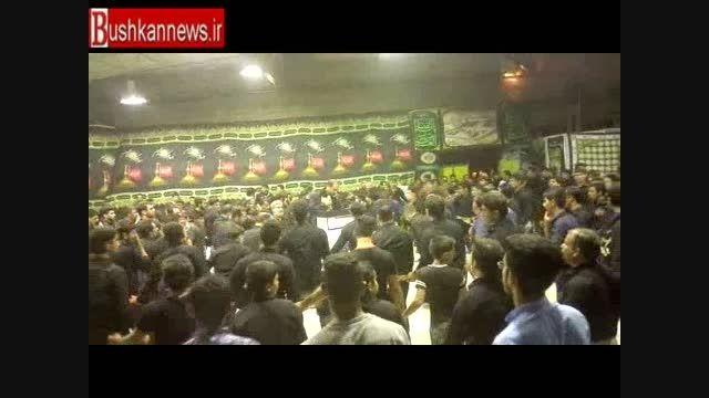 مراسم سینه زنی با حضور رئیس هیئت های مذهبی استان بوشهر