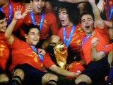 جشن قهرمانی اسپانیا در جام جهانی آفریقا در سال 2010