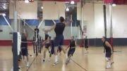 تمرین و مصاحبه با متیو اندرسون بازیکن والیبال آمریکا