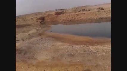 فاجعه زیست محیطی در خوزستان-رهاسازی مایعات سمی در طبیعت