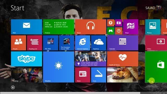 اموزش زیبا سازی و تغییر رنگ محیط استارت ویندوز 8.1