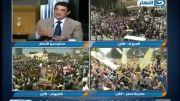 اعتراف تلویزیون مصر تظاهرات مردم 30/08/2013 مرسی مخالف کودتا