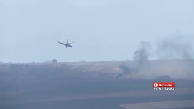 حمله بالگرد های روسیه به مواضع داعش در سوریه