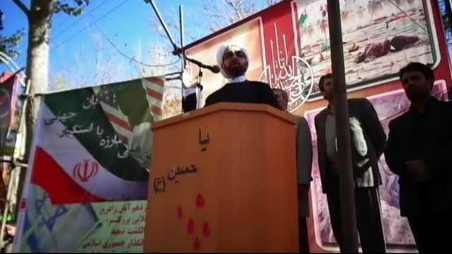 دومین قسمت مراسم 13ابان سخنرانی امام جمعه محترم مهربان