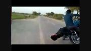 بازی مرگ ( حرکات خطرناک با موتور CG 125 )