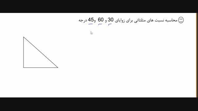 ویدیو آموزش مفاهیم پایه ای مثلثات
