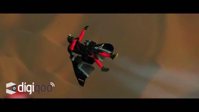 پرواز دو مرد شجاع در آسمان دبی با جت پک