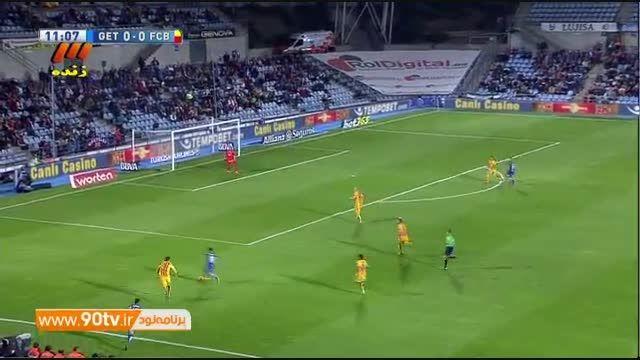 خلاصه بازی: ختافه 0-2 بارسلونا