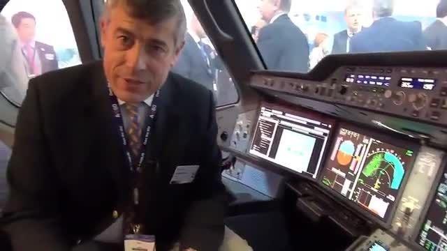 کاکپیت جدیدترین هواپیمای ساخت ایرباس Airbus A350