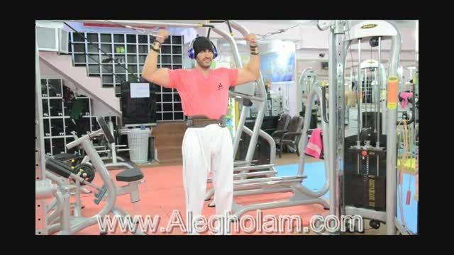 آموزش حرکت جلو بازو با دستگاه کراس - آل غلام