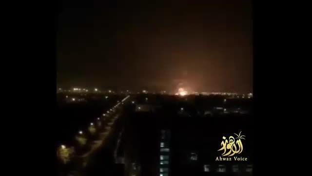 لحظه وقوع انفجار مهیب در شهر تیانجین چین