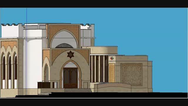 مدل 3 بعدی اسکچاپ ویلا عربی C2