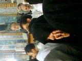 حاج منصور در اولین سفر کربلا در حرم حضرت عباس(ع)