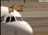 بازیکنان اسپانیا در فرودگاه