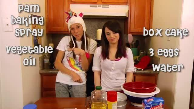 دستور پخت کیک رنگین کمان