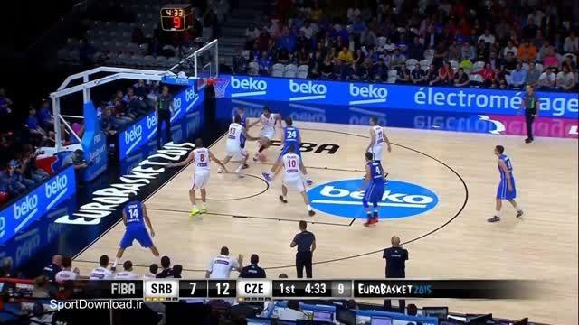 هایلایت مسابقه بسکتبال صربستان-چک قهرمانی اروپا 2015