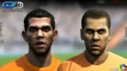 مقایسه چهره بازیکنان بارسلونا در بازی فوتبال PES و FIFA