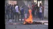 پرتاب گاز و نارنجک به سمت جوانان فلسطینی توسط نظامیان