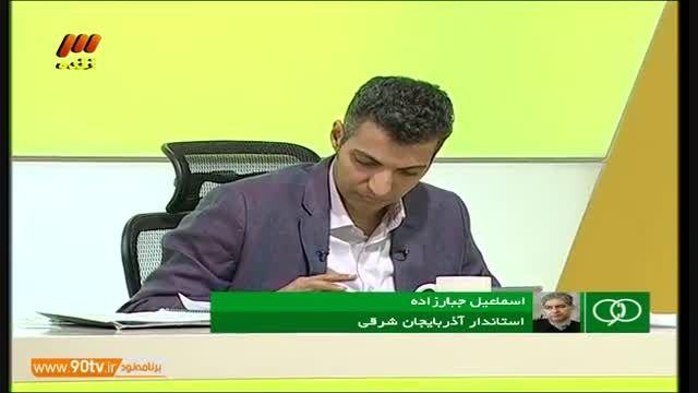گفتگو با استاندار آذربایجان شرقی (نود ۲۸ اردیبهشت)