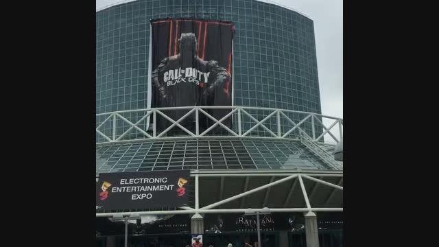 نصب بنرعظیم جسه BO3 در جلوی محل برگزاری E3 2015