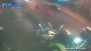 زیر گرفتن رفتگر توسط راننده زن