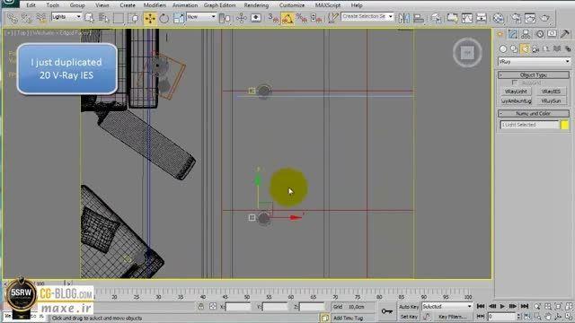 آموزش تصویری نحوه تنظیم نور در پلاگین وی ری vray 3d max