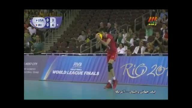 آرون راسل بازیکن جوان تیم ملی والیبال آمریکا