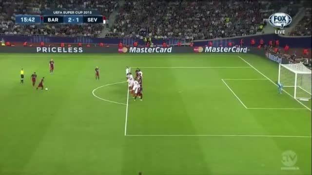 خلاصه بازی : بارسلونا 5 - 4 سویا (سوپر کاپ اروپا) | HD