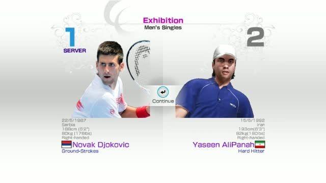 گیم پلی بازی : Virtua Tennis 4