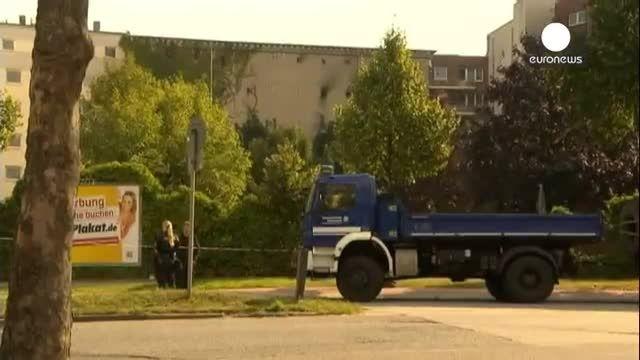 انفجار و آتش سوزی در هامبورگ آلمان