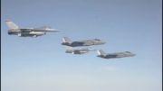 پرواز Formation جنگنده های F-35 و F-16