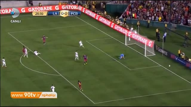 خلاصه بازی: لس آنجلس گلکسی ۱-۲ بارسلونا