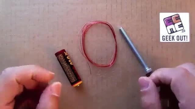 ساخت آهن ربا الکتریکی ساده