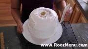 آموزش تزئین کیک در روزمنو  - تزئین کیک عروسکی (شماره 1)