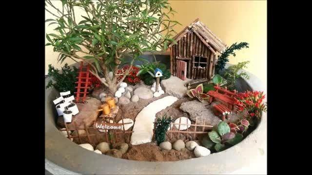 باغچه مینیاتوری زیبا بسازیم