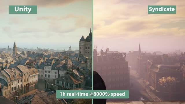مقایسه گرافیک بازی Assassins Creed Syndicate vs Unity