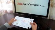 بسته بندی ارسال کارت هدیه ویزا برای مشتریان asancardcompany.