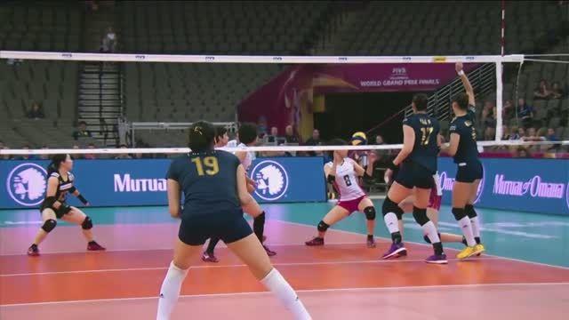 هایلایت والیبال زنان : ژاپن VS چین