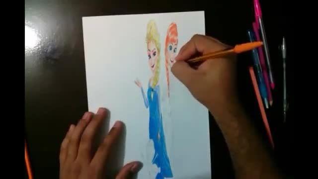 آموزش نقاشی سه بعدی انیمیشن فروزن