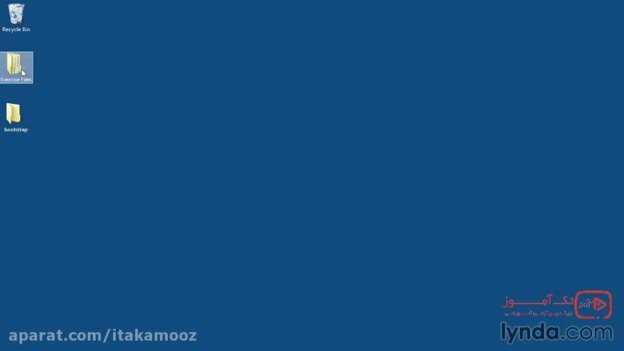 آموزش بوت استرپ3 :اضافه کردن CSS به فایل HTML بوت استرپ