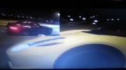 درگ مرسدس بنز SLS AMG و فراری 458 italia STOKE