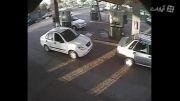 آتش گرفتن انسان زنده+ آتش گرفتن پمپ بنزین بر اثر بنزین