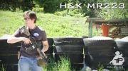 مقایسه ی سرعت عمل شلیک بین 3 اسلحه ی AK-47 و HK-416 و G-3