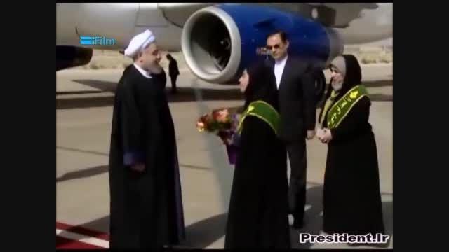 ورود رییس جمهوری به استان فارس